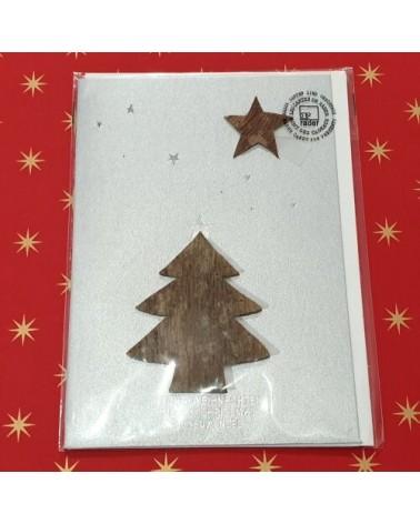 Carte de Noël - Sapin et Etoile en bois - Rader