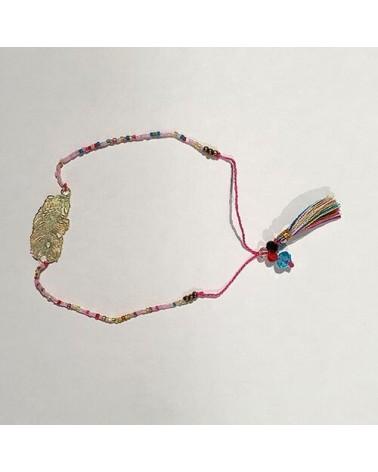 Bracelet perles Plume - Rose - Nusa Dua