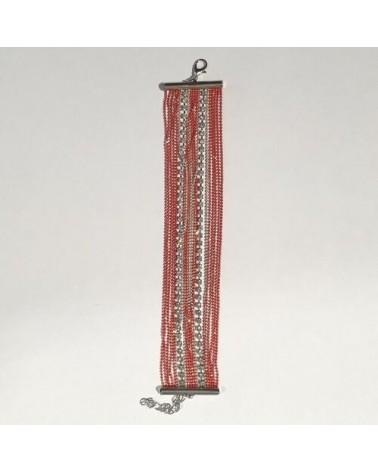 Grand bracelet perles - Corail - Nusa Dua