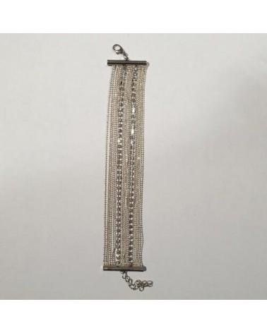 Grand bracelet perles - Argent - Nusa Dua