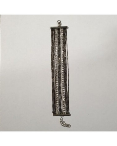 Grand bracelet perles - Noir - Nusa Dua