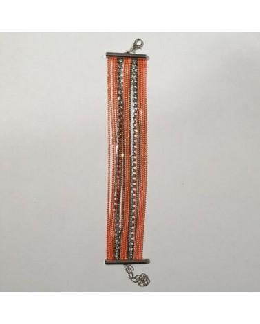 Grand bracelet perles - Orange - Nusa Dua