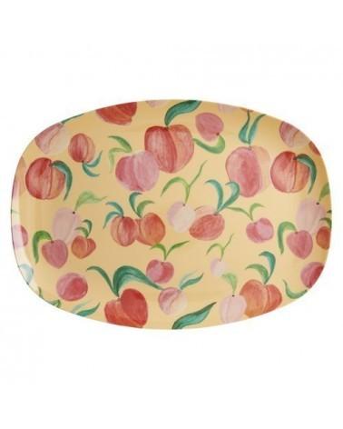 Assiette rectangulaire mélamine - Plateau Rice - Peach
