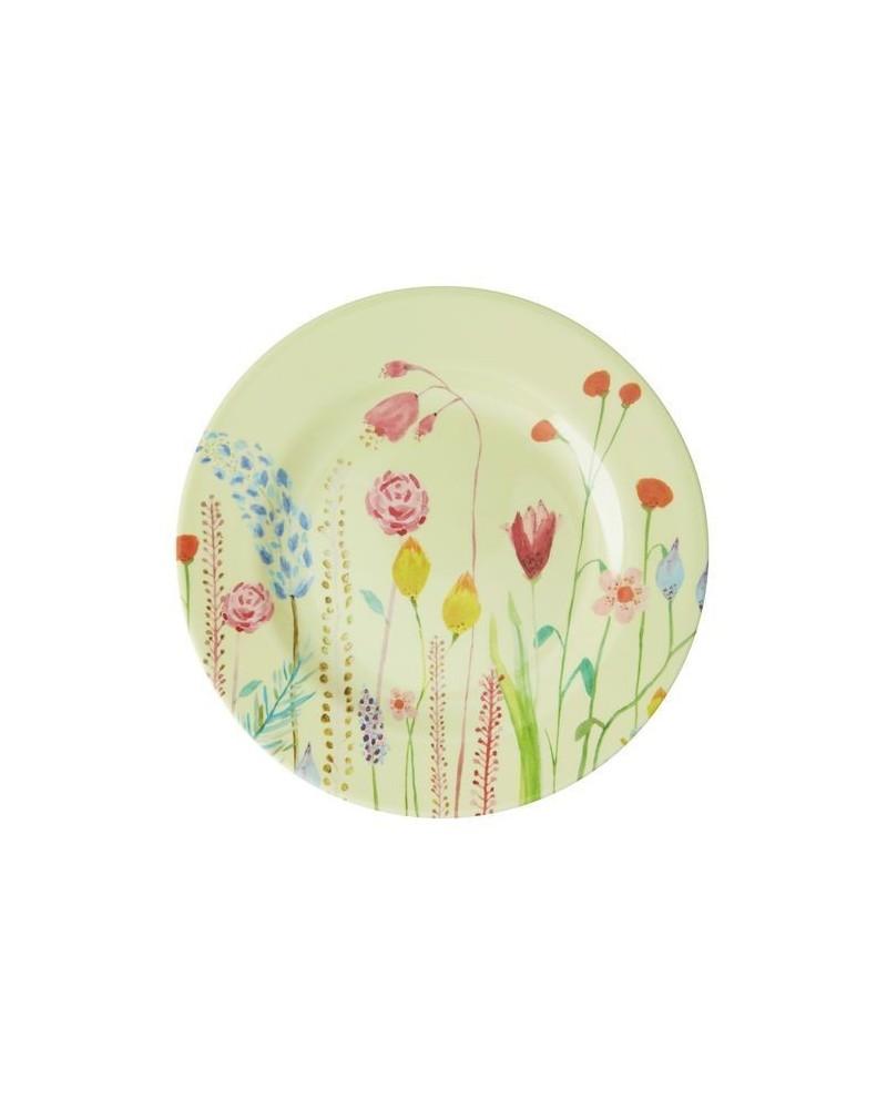 Assiette à dessert - Mélamine - Rice - Choose Happy - Summer Flowers