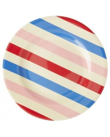 Assiette à dessert - Mélamine - Rice - Candy Stripes
