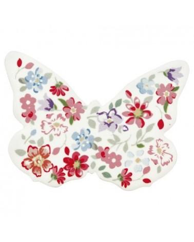 Lot de 4 aimants papillons en céramique - Greengate - Clementine white