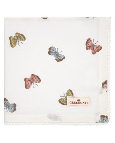 Serviette de table - Greengate - dentelle - Maisie white
