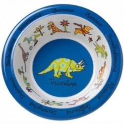 Assiette creuse en mélamine - dinosaures - Tyrell Katz