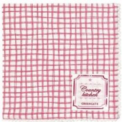 Serviette de table - Greengate - Frederikke Raspberry