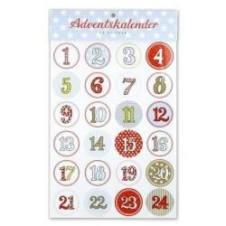 Feuille de stickers - Krima et Isa - calendrier de l'avent
