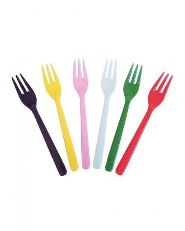 6 fourchettes - Mélamine - Rice - Favorite colors