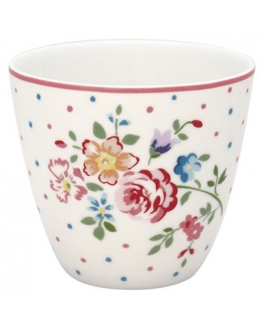 Latte cup - Greengate - Belle white