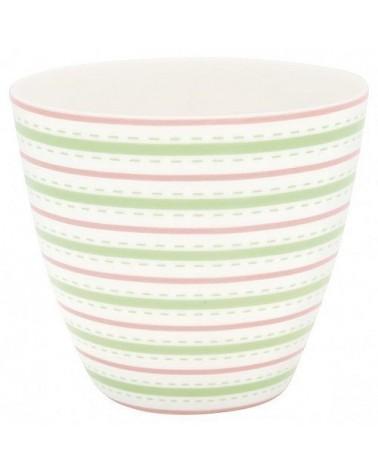 Latte cup - Greengate - Sari white