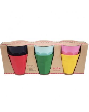 6 Gobelets Mélamine - Rice - Favorite Colors - 9X9