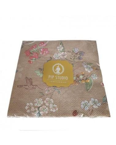 Lot de 20 serviettes en papier Hummingbirds Floral 2 - Pip Studio