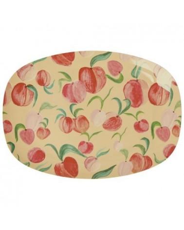 Petite assiette rectangulaire mélamine - Peach