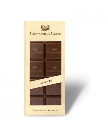 Tablette de chocolat - Comptoir du Cacao - Cacao Light noir 99 % de cacao