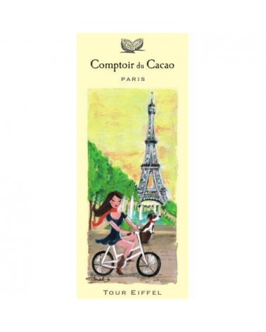 Tablette de chocolat - Comptoir du Cacao - Tour Eiffel - noir 72%