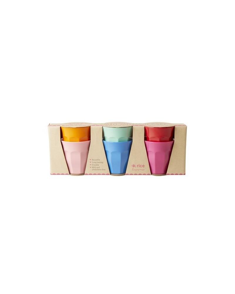6 Gobelets Mélamine - Rice - Choose Happy Colors - 7X7cm