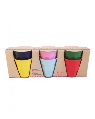 6 Gobelets Mélamine - Rice - Favorite Colors - 7X7cm
