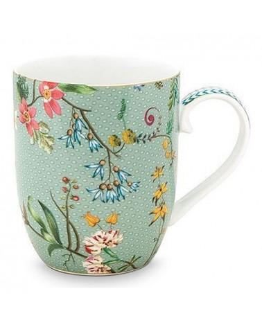 Mug - Jolie Fleurs Bleu - Pip Studio - 14.5 cl