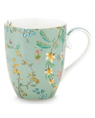 Grand Mug - Jolie Fleurs Bleu Or - Pip Studio - 35 cl