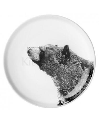 Assiette - Marini Ferlazzo - KitchenCraft - Black bear - 20 cm