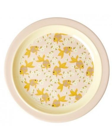 Assiette plate à rebord - Rice - Goldfish