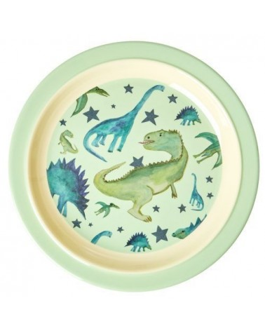 Assiette plate à rebord - Rice - Dino