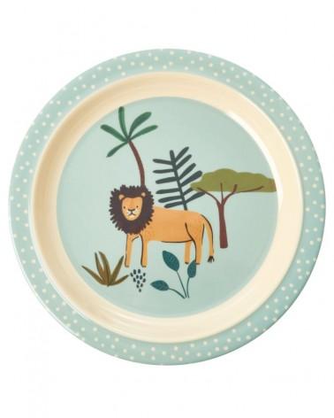 Assiette plate à rebord - Rice - Jungle - Green