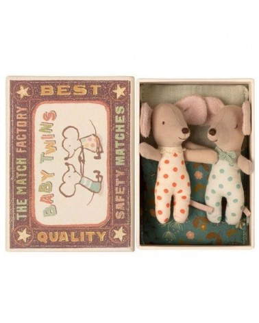 Boîte d'allumettes bébés jumeaux - Twins - Maileg - Couverture décorée