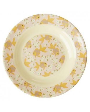 Assiette creuse en Mélamine - Rice - Goldfish