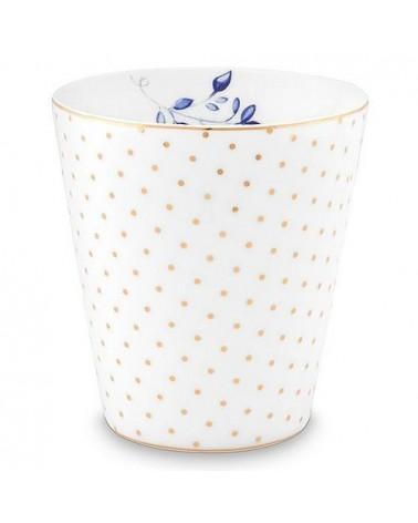 Mug sans anse - Royal Pois Blanc - Pip Studio - 23 cl