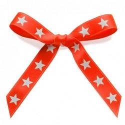 Ruban papier cadeau - Krima et Isa - Néon orange étoilé - 2m50