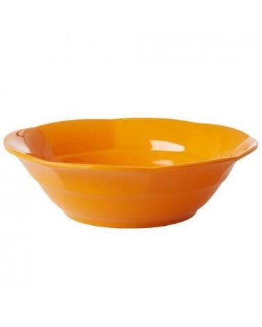 Assiette creuse Mélamine Rice - Tangerine