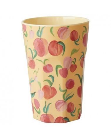 Long Mug Rice Mélamine - Peach