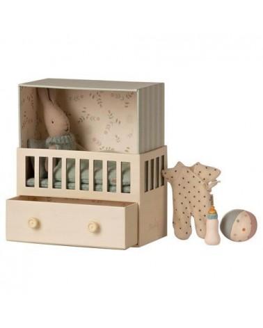 Chambre de bébé - Maileg - Lapin micro - Bleue