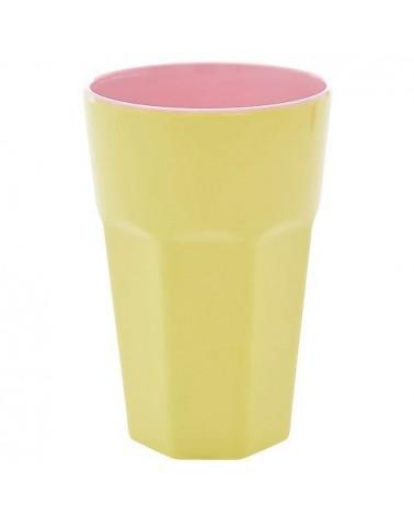 Long Mug Rice Mélamine - Soft Yellow and Pink