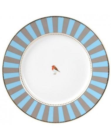 Assiette à pain  Pip Studio Love Birds - bande Bleue kaki 17cm