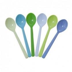 6 cuillers en Mélamine RICE - Blue Colors - 14cm