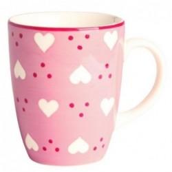 Mug coeur rose - Déjeuner sur l'herbe - 30 cl
