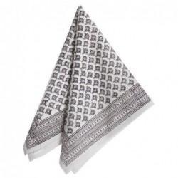 Serviette de table - Bungalow - meena black-grey