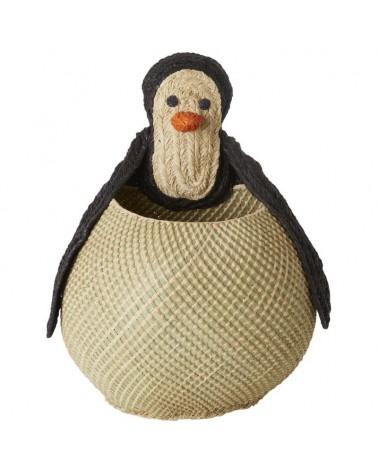 Corbeille - Rice - Pingouin - Jonc de mer