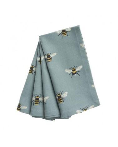 Lot de 4 serviettes - Sophie Allport - Abeilles bleues