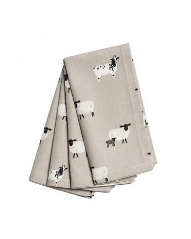 Lot de 4 Serviettes - Sophie Allport - moutons
