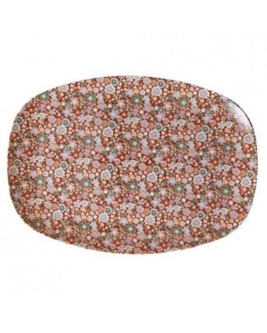 Petite assiette rectangulaire Mélamine - Fall floral