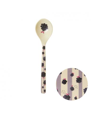 Cuillère - Mélamine Rice - Black berry beauty - 14 cm