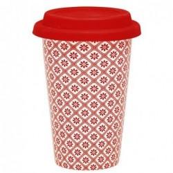 Travel Mug - Greengate - Bianca red