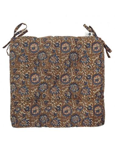 Coussin de chaise coton - Madam Stoltz - Cinnamon