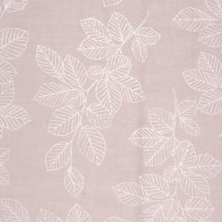 Coton enduit  - A.u maison - nordic leaves - old rose